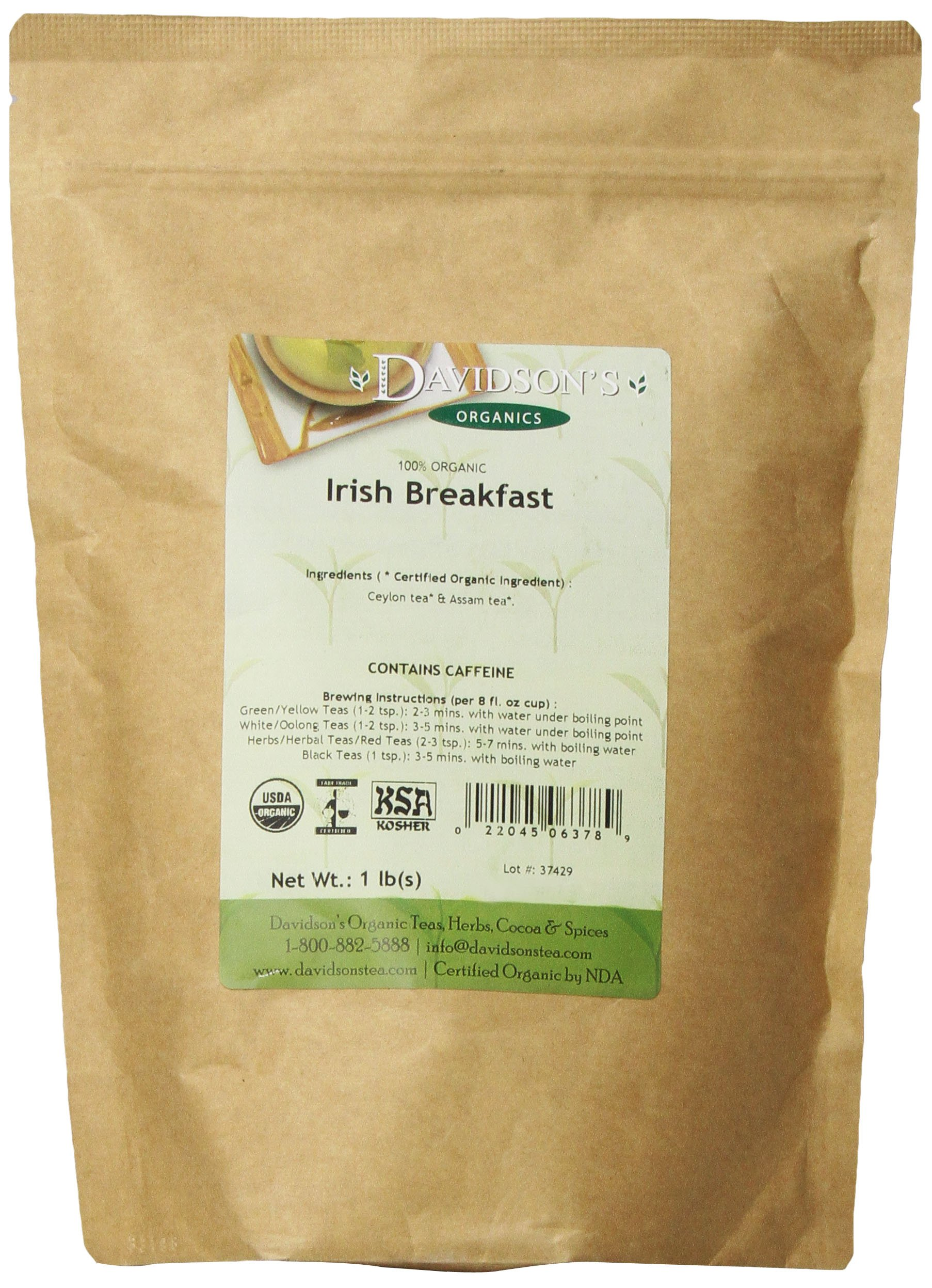 Davidson's Tea Bulk, Irish Breakfast, 16 Ounce by Davidson's