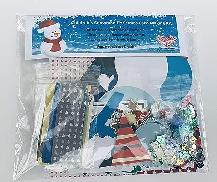 Tarjeta de Navidad muñeco de nieve - Juego de utensilios ...