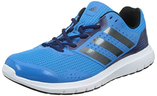 best service ad629 c48f4 Adidas Mens Duramo 7 Running Shoes, (Solar BlueNight Met, Midnight Indigo