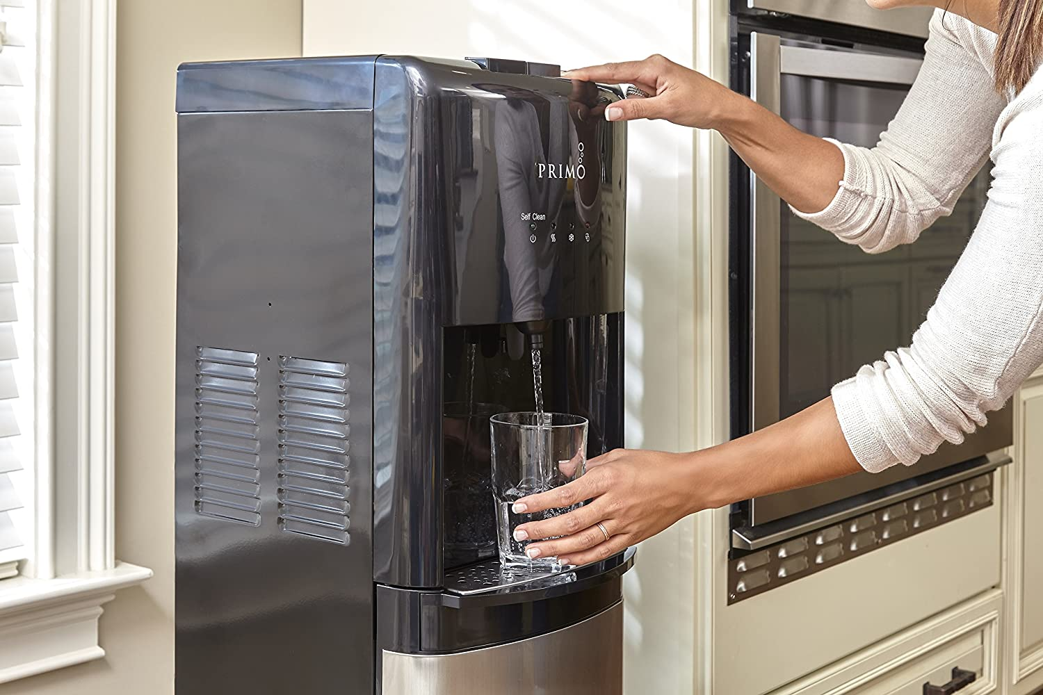 Primo Self-Sanitizing Bottom Load Water Cooler Dispenser - 3 temperature modes