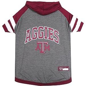 Texas A&M University Doggy Hooded Tee-Shirt (Medium: 14