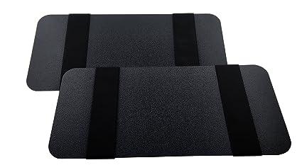Visormates - Side Window Sun Visor Extenders (5x12 Black with Black Straps)  to add bd6efa00730