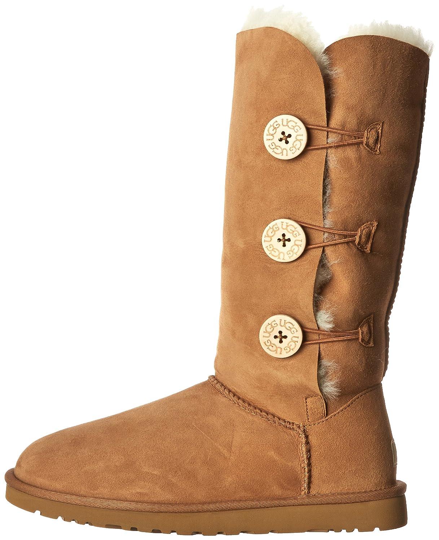 ugg australia women s bailey button triplet boots chestnut 8 b m us rh amazon in