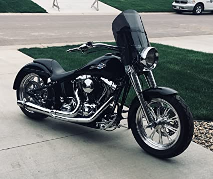 Harley Davidson Windshields >> Amazon Com Harley Davidson Dark Tint Shorty 15 Windshield For