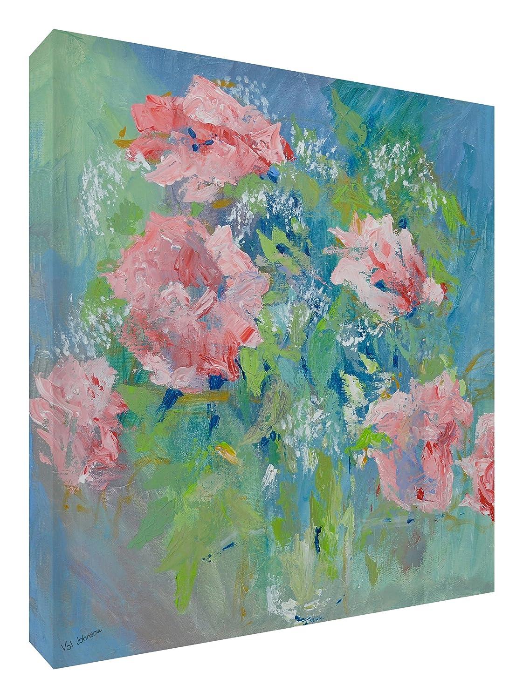 Feel Good Art Leinwand leuchtenden Farben gehören des Künstlers Val Johnson Rosen 96x 96x 4cm Größe XXL