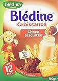Blédina Blédine Choco Biscuitée Croissance dès 12 Mois 500 g - Lot de 4
