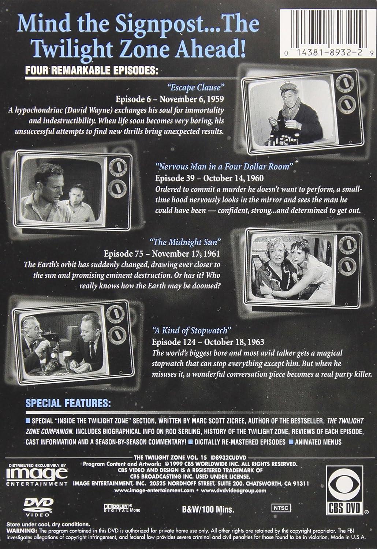 Amazon: The Twilight Zone: Vol 15: Rod Serling, Robert Mccord, Jay  Overholts, Vaughn Taylor, James Turley, Arthur Tovey, Jack Klugman, Burgess  Meredith
