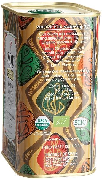 Aceite de oliva virgen extra ecológico de Zoe, latas ...