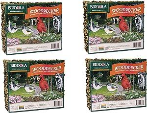 (4 Pack) Birdola Woodpecker Seed Cake, 2 Pounds each