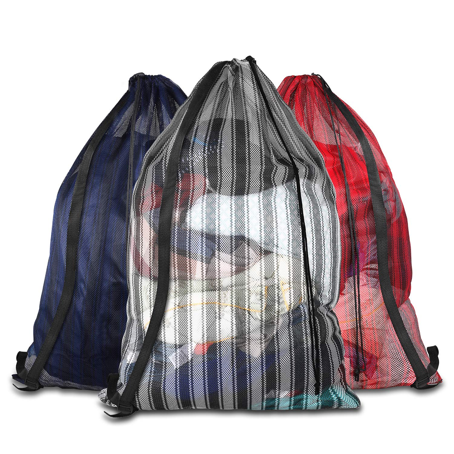 Daly Kate Mesh Equipment Bags,Durable Ball Bags Adjustable Shoulder Strap 24\