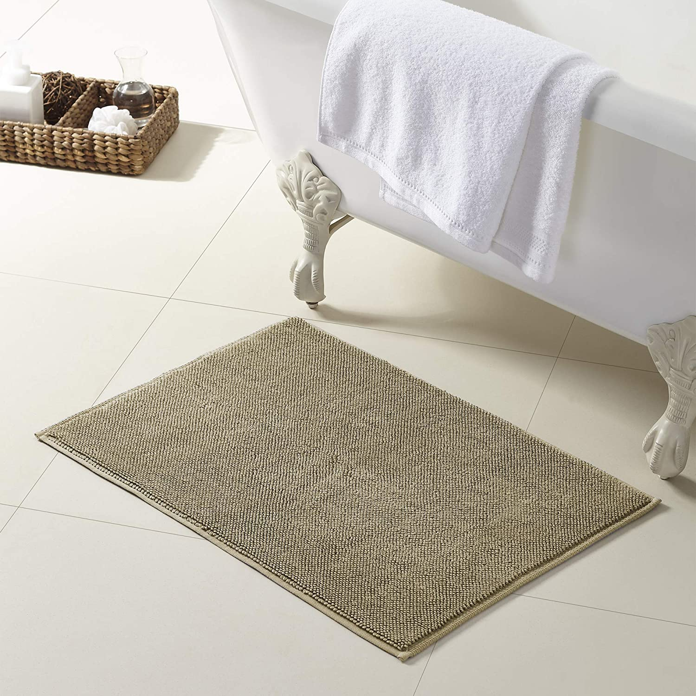 Amrapur Overseas 100-Percent Turkish Cotton Bath Rug, 20 x 28, Oatmeal
