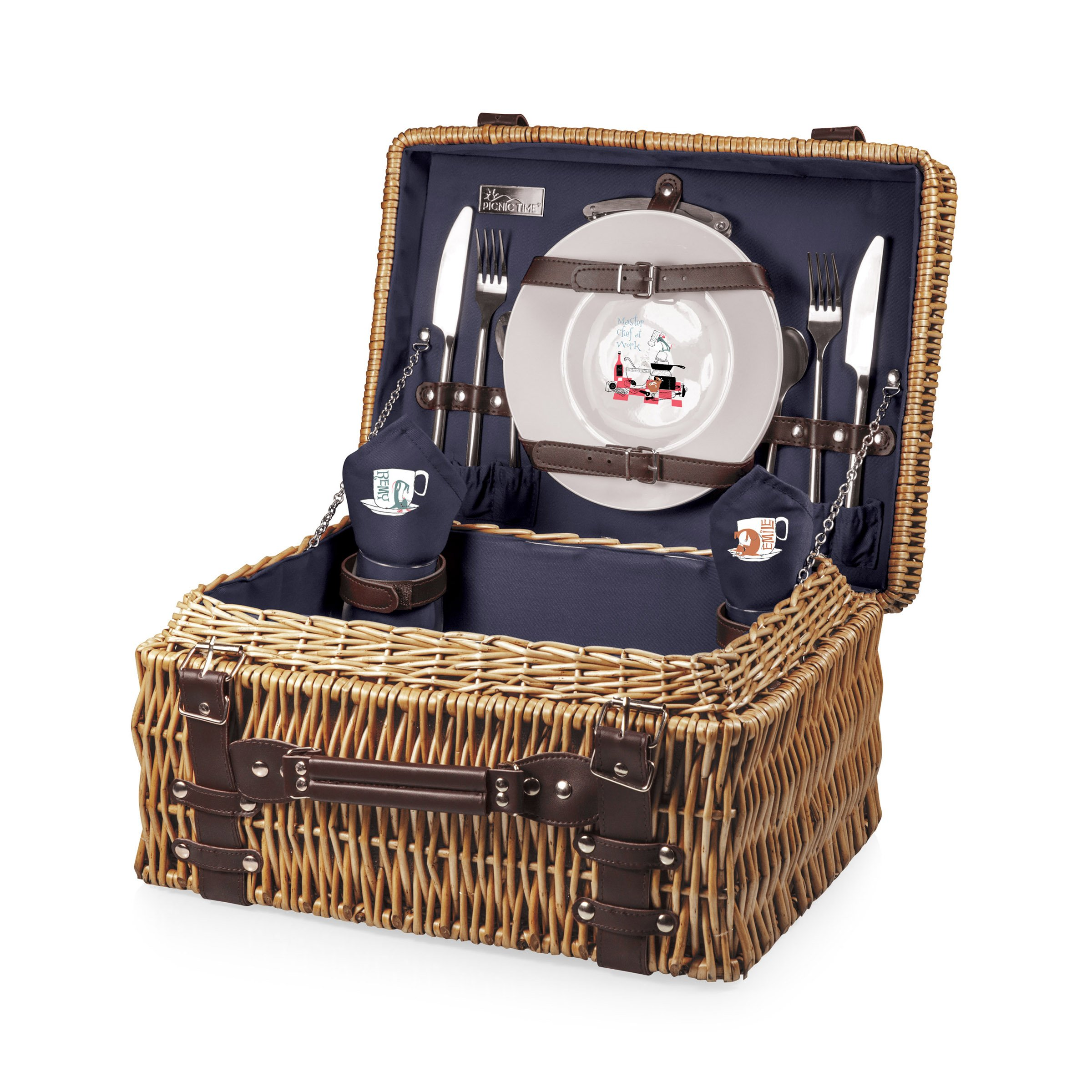 Disney/Pixar Ratatouille Champion Picnic Basket with Deluxe Service for Two by PICNIC TIME