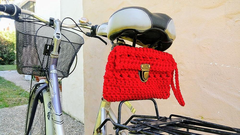 Bolso de crochet para el sillín de la bicicleta o para el ...