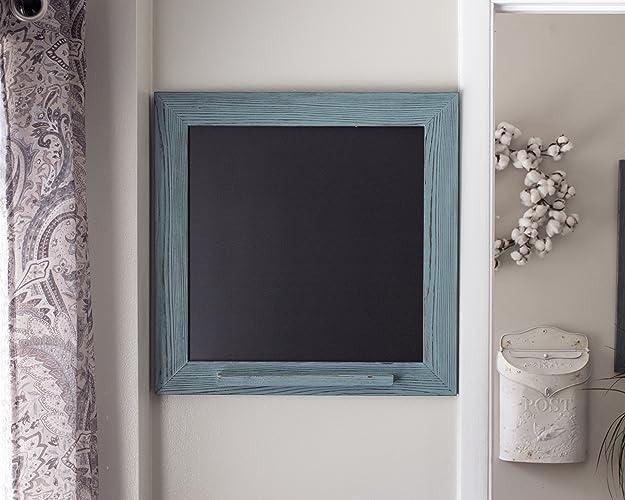 Rustic Framed Chalk Marker Board, Turquoise Kitchen Menu ChalkBoard, Home  Decor