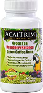 Amazon Com Acaitrim Weight Loss Supplement Green Tea Extract Green Coffee Bean Extract Raspberry Ketones Acai