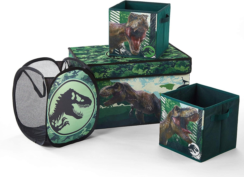 Jurassic World Storage Set, (Pack of 4), Green