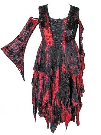 Amazon Dark Star Plus Size Red Black Velvet Jacquard Corset