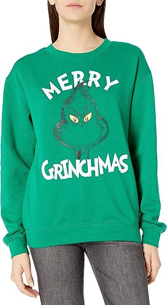 Seuss Girls Ugly Christmas Crew Sweatshirt Dr