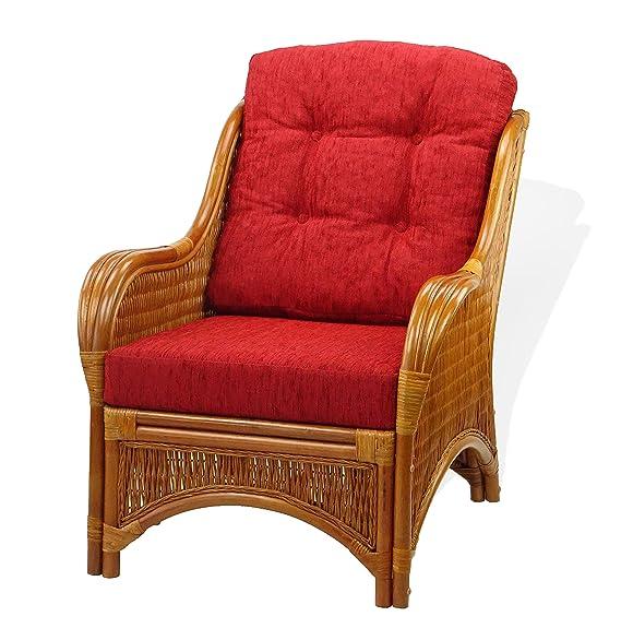 Amazon.com: JAM – Juego de 2 sillas de mimbre de ratán ...