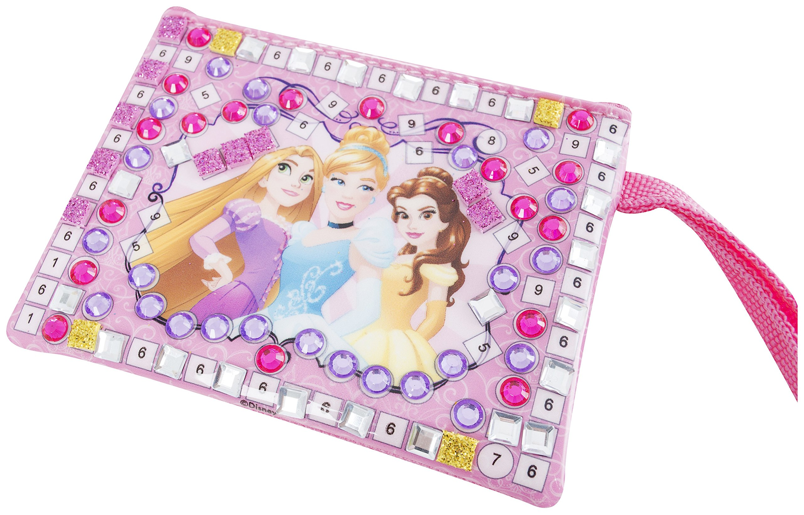 Disney Princess Art Set Beauty and the Beast Belle Cinderella Rapunzel Keepsafe Box Mosaic Mirror Mosaic Purse | Arts and Crafts for Kids | Perfect Christmas Present