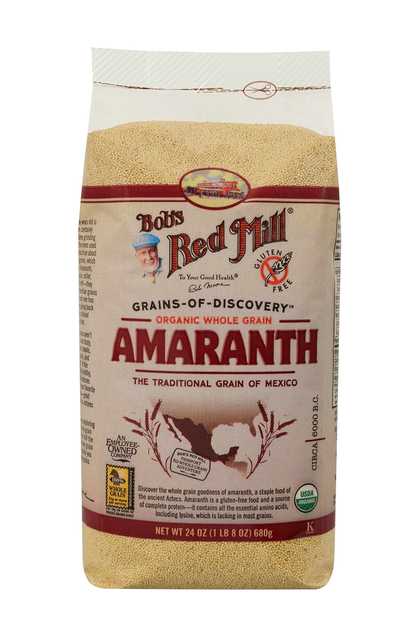 Bobs Red Mill Grain Amaranth Organic Gluten Free, 24 oz