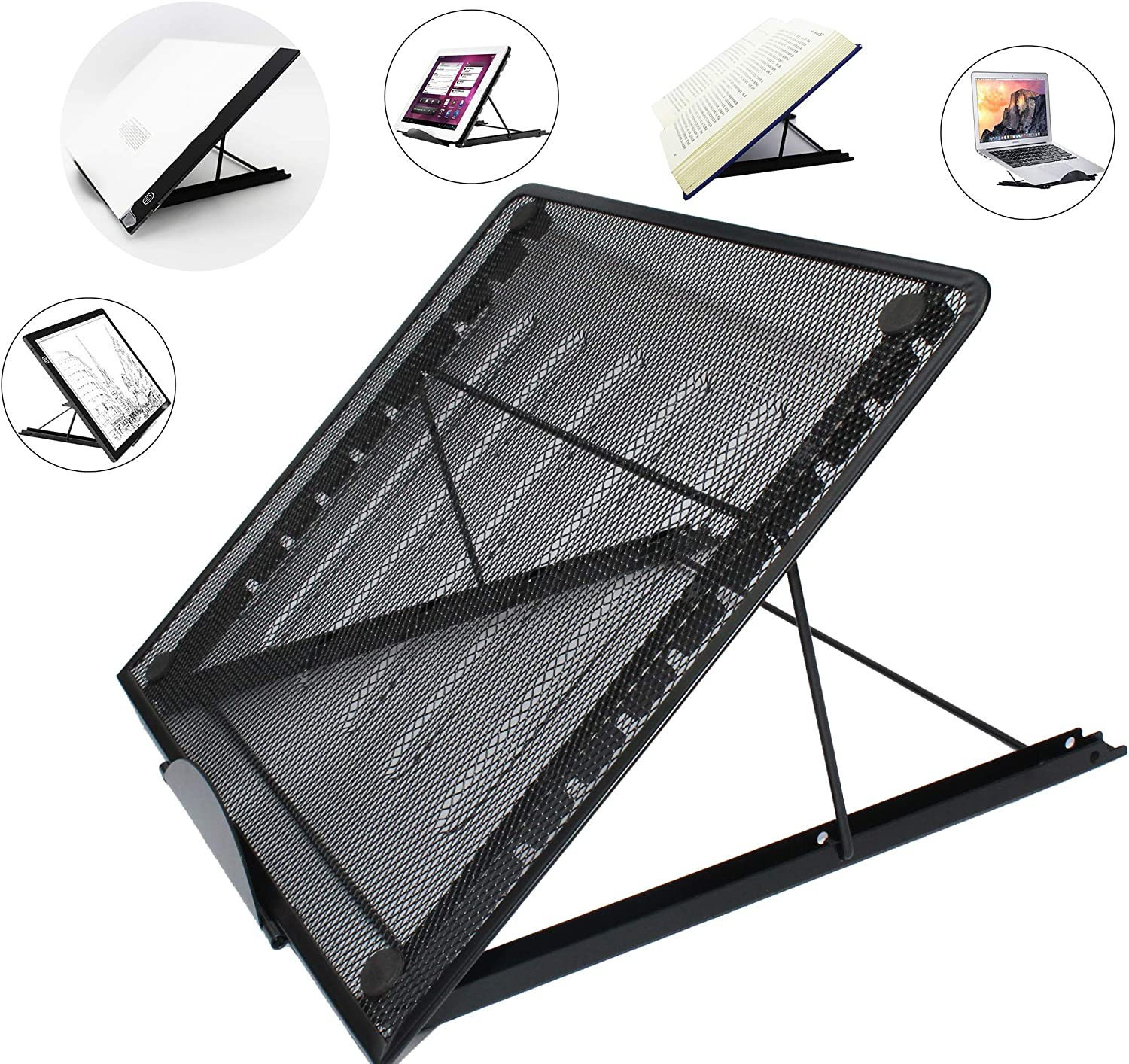 13.4x11.6inch Large Version Stand Ventilated Adjustable Light Box Laptop Pad Stand, Multifunction Skidding Prevented Tracing Holder for Ipad A3 A4 LED Tracing Light Pad Tablet, Diamond Painting tracer