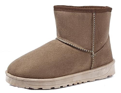 AgeeMi Shoes Donna Slip On Faux Scamosciato Inverno Neve Stivali   Amazon.it  Scarpe e borse c73daa12f1e