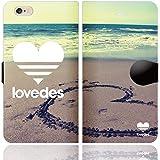[iPhone6S 6 兼用 手帳型 ケース カバー] LOVEDES ハワイアン B