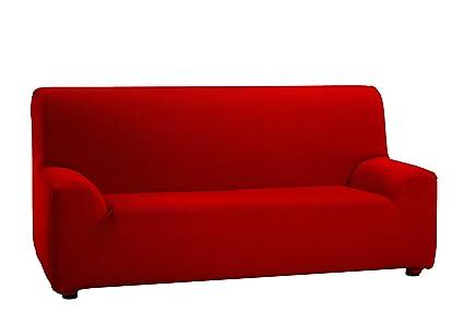 Martina Home Tunez, Funda elástica para sofá, color Rojo, medidas para 3 Plazas (180-240 cm)