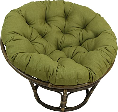 Blazing Needles Solid Outdoor Spun Polyester Papasan Cushion