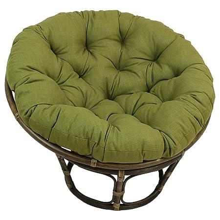 Blazing Needles Solid Outdoor Spun Polyester Papasan Cushion, 52 , Bery Berry