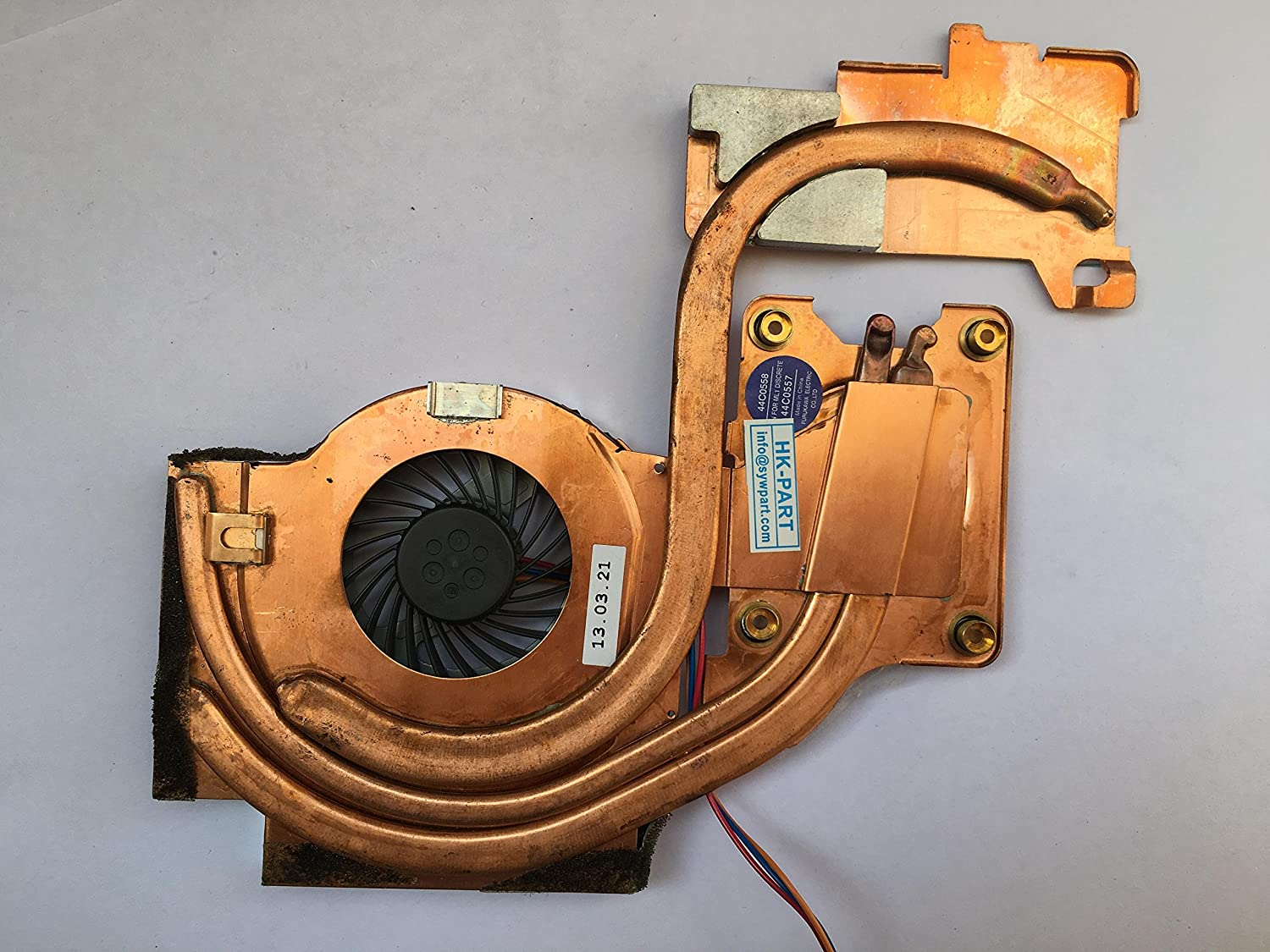 "HK-part Replacement Fan for IBM Thinkpad T61 T61p Cpu Cooling Fan with Heatsink Discret 14"" widescreen P/N 44C0557 44C0558 3-Pin 3-Wire"