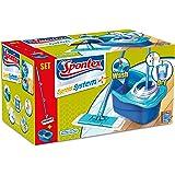 Spontex Express System Plus Sistema Lavapavimenti a Panno Piatto e Secchio con Strizzatura Rotante