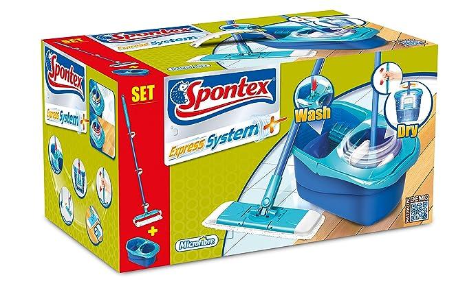 45 opinioni per Spontex Express System Plus Sistema Lavapavimenti a Panno Piatto e Secchio con