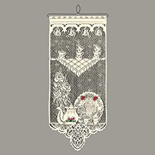 product image for Heritage Lace Tea Time w/Roses Wall Hanging, Ecru