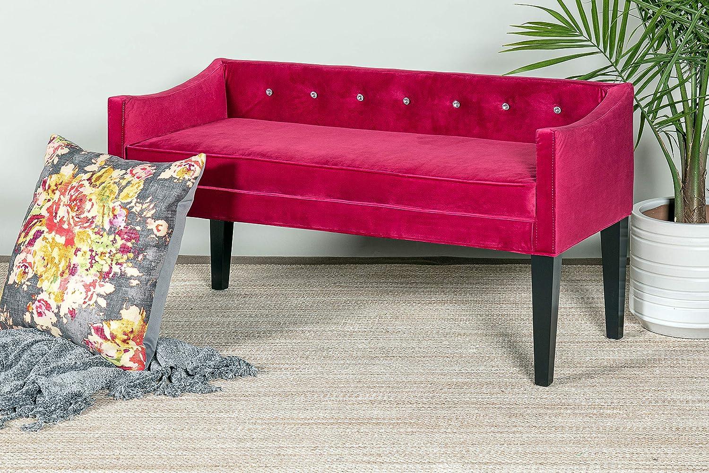 Amazon.com: Leffler Home 13000-29-71-01 Juliette Bench, Pink ...