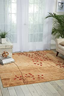 Nourison Somerset (ST74) Latte Square Area Rug, 6 Feet 7 Inches