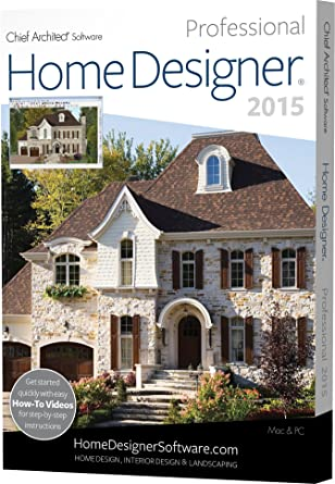 chief architect home designer pro 2015 pc mac software amazon ca