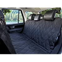 BarksBar Luxury Pet Car Seat Cover with Seat Anchors for Cars, Trucks, and Suv's - Black,…