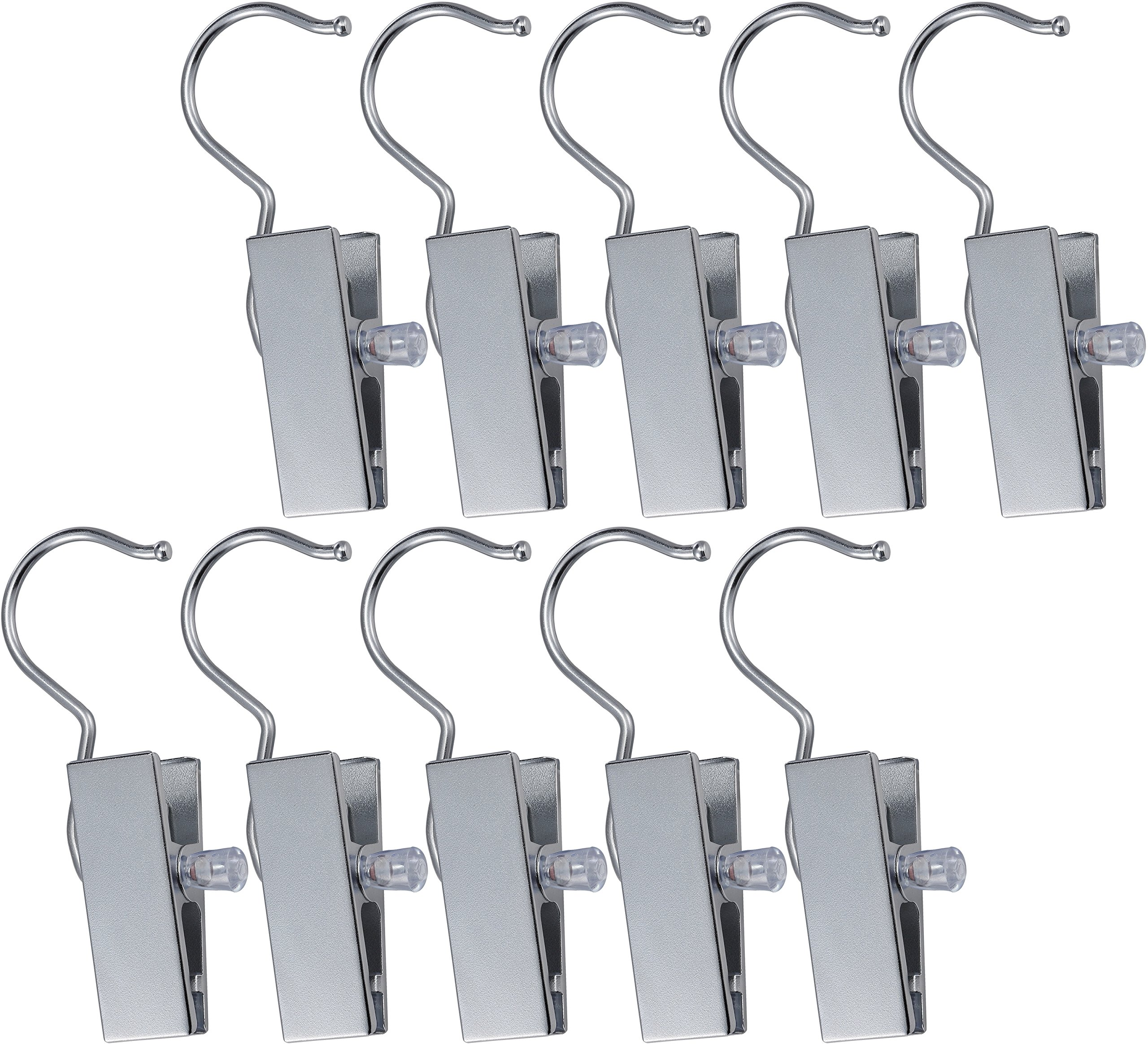 10 Boot Organizer Hanger Clips and Clip Hooks for Hanging Clothes Laundry Clothing Rack Dryer Set