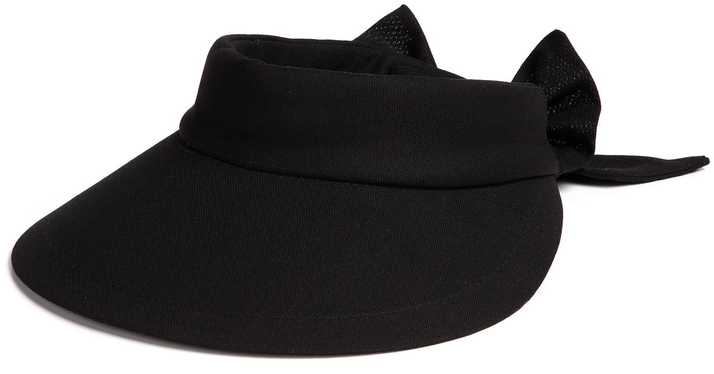 790b7712a089 SCALA Women s Visor Hat with Big Brim (Black) at Amazon Women s Clothing  store  Visors Headwear