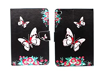 Sharp Icon Fancy Printed Designer Leather Flip Wallet Back Cover Case for Apple iPad Mini 4   Butterfly