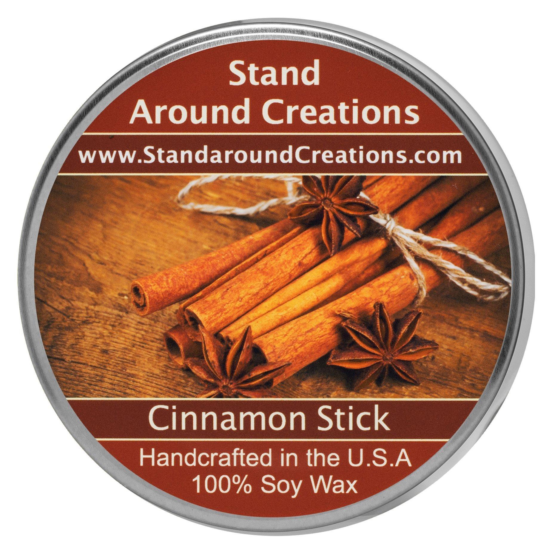 Premium 100% Soy Tureen Candle - 8 oz. -Cinnamon Stick: A full bodied scent of rich spicy cinnamon. Made w/ natural essential oils, Cinnamon, Clove, Cinnamon Bark.