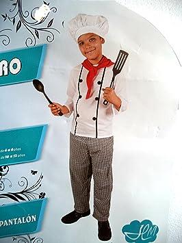 Disfraz de Cocinero. Niño. Talla 7/9. Incluye Pantalón ...