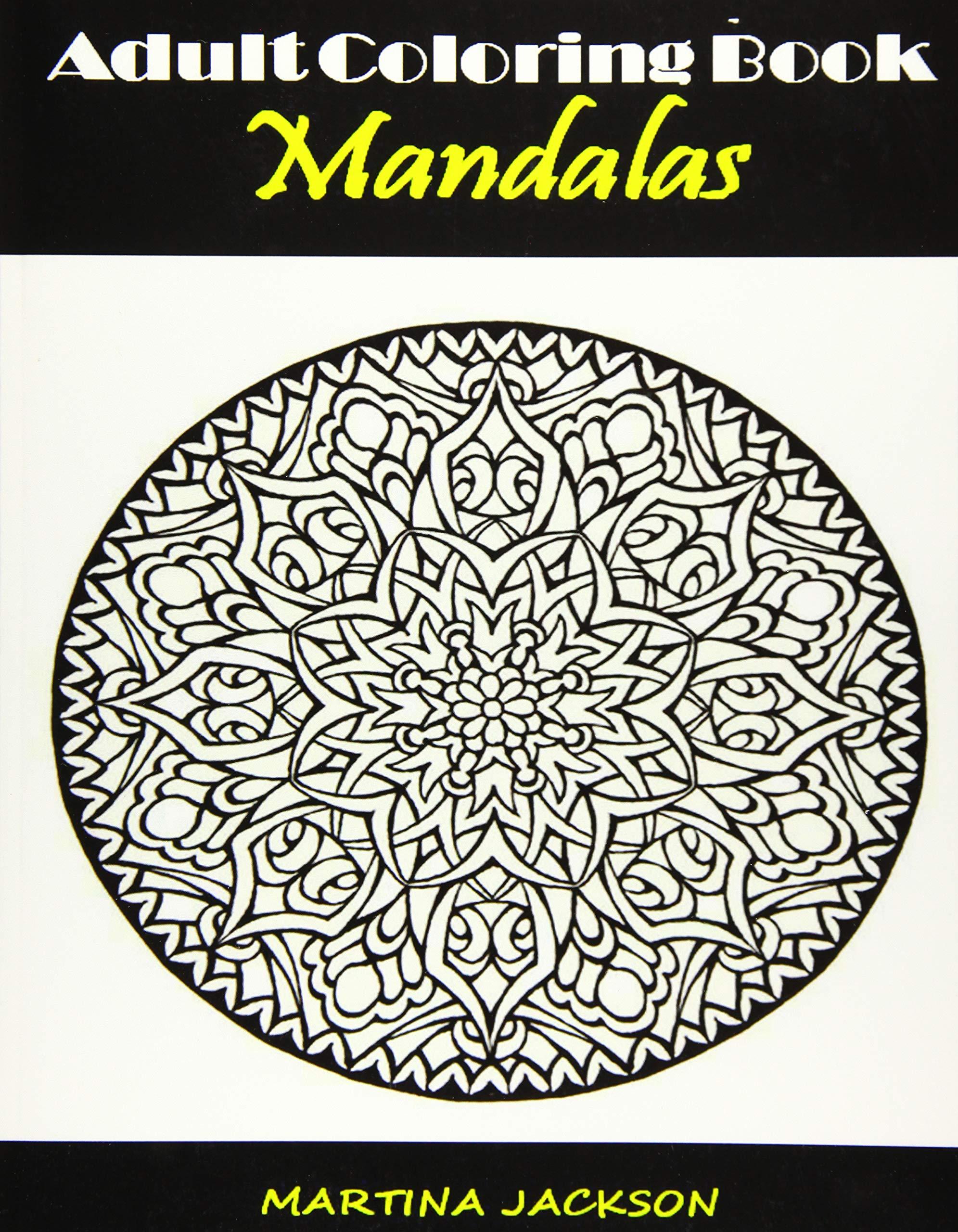 - Amazon.com: Adult Coloring Book Mandalas: 40 Detailed Coloring