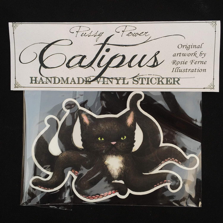 cat lover gift funny sticker octopus sticker vinyl sticker water bottle sticker laptop sticker catipus sticker