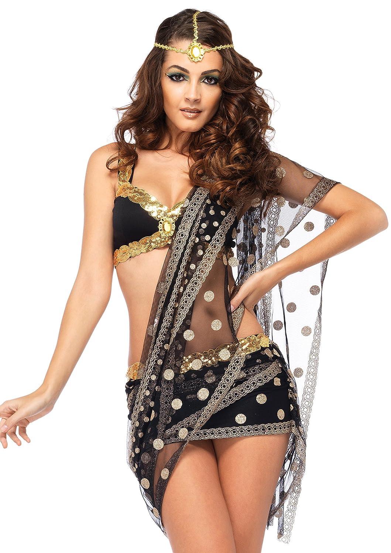 Leg Avenue 85218 - Bollywood Liebling Kostüm Kostüm Kostüm Set, 3-teilig, Größe S, schwarz/gold 96d08f