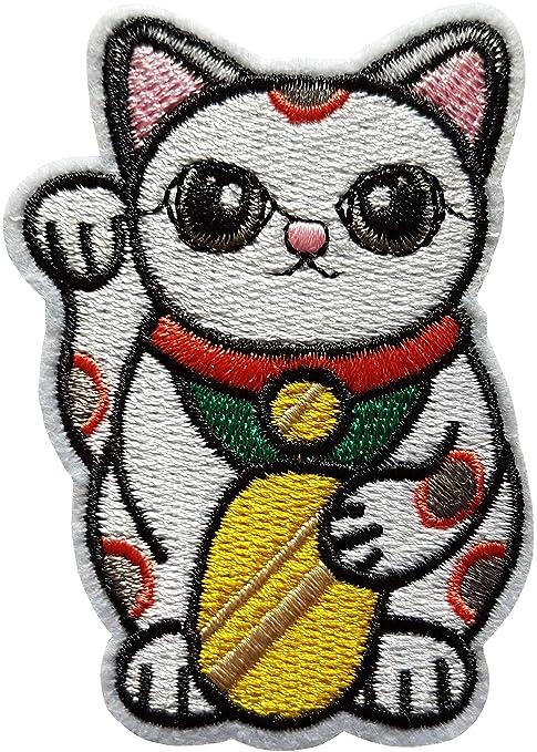 8,1 x 5,8 m Gato Puerta Felicidad Maneki Neko Patch Japón japonés