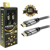 Cabo Hdmi 2.0 4K Hdr 19P 1.8M Pix Black Series, Preto