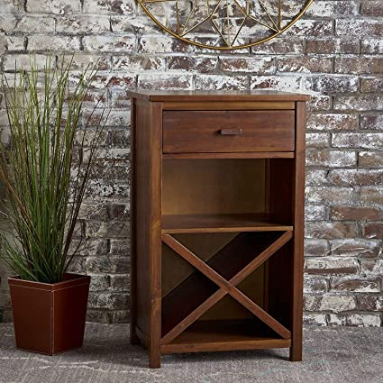 Green Wood Solid Sheesham Wood Bar Cabinet Furniture for Home   Living Room   Natural Brown